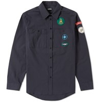 Raf Simons Badge Scout Shirt Blue
