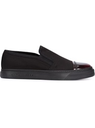 Marc Jacobs Contrasted Toe Cap Slip On Sneakers Black