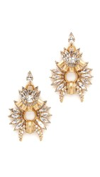Elizabeth Cole Emma Earrings Golden Crystal