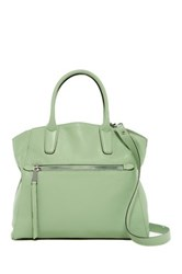 Abro Pebbled Leather Satchel Green