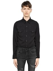 Saint Laurent Light Twill Western Shirt