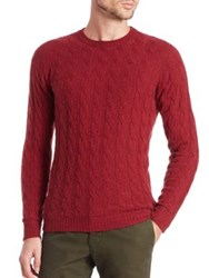 Slowear Camel Hair Cable Knit Sweater Red