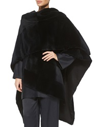 The Row Sheared Patchwork Mink Fur Shawl