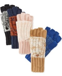 Rampage Marled Flip Top Gloves Only At Macy's Rose Quartz Ivory