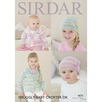 Sirdar Snuggly Baby Crofter Dk Hat And Cardigan Knitting Paper Pattern 4675