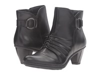 Earth Topaz Black Full Grain Leather Women's Shoes