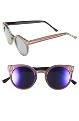 Komono 'Lulu' Round Lens Sunglasses Purple Haze