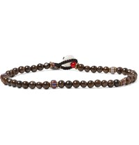 Mikia Multi Stone Bead Bracelet Brown