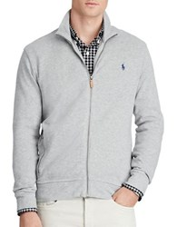 Polo Ralph Lauren Ribbed Cotton Full Zip Jacket Andover Heather
