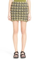 Phelan 3D Circle Inlay Knit Miniskirt Multi