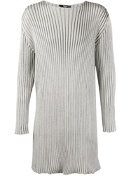 Yang Li Oversized Ribbed Sweater Grey