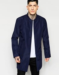 Minimum Bomber Jacket In Long Length Navy Blazer