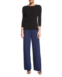 Petite Santana Knit Stove Cut Pants Ink Women's St. John Collection