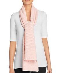 Bloomingdale's C By Waffle Knit Cashmere Scarf Ballet