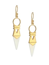 A Peace Treaty Punya Bone Dagger Drop Earrings Gold