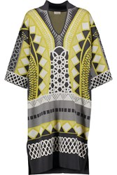 Temperley London Gayla Stretch Jacquard Knit Tunic Gray