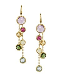 Marco Bicego Jaipur 18K Yellow Gold And Multi Stone Double Drop Earrings Multi Gold