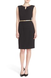 Women's Ellen Tracy Belted Sheath Dress