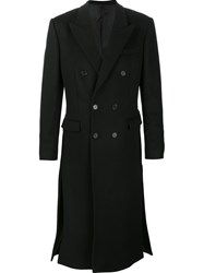 Juun.J Double Breasted Tailored Coat Black