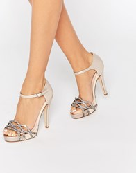 Faith Lethal Nude Occasion Heeled Sandals Nude Beige