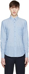 Naked And Famous Blue Pencil Stripe Regular Shirt