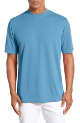 Men's Bugatchi Short Sleeve Crewneck T Shirt Teal