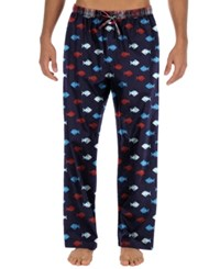 Tommy Hilfiger Men's Fish Print Woven Pajama Bottoms Navy