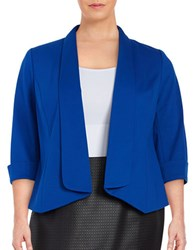 Nipon Boutique Plus Shawl Collar Blazer Electric Blue
