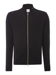 Peter Werth Men's Hustler Textured Jersey Zip Bomber Black
