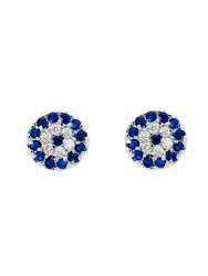 Melissa Odabash Rhodium Evil Eye Crystal Stud Earrings N A N A