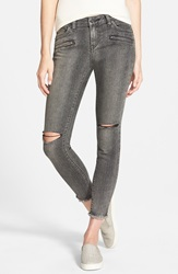 Volcom Destroyed Cropped Jeans Gunmetal Grey