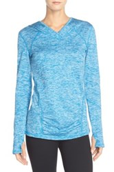 Zella 'First Track' Hooded Pullover Blue