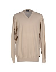Trussardi Jeans Knitwear Jumpers Men Beige
