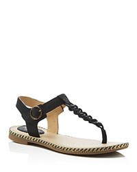 Sperry Anchor Away T Strap Flat Sandals Black