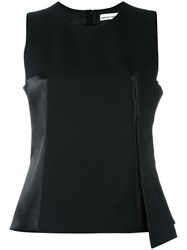 Paco Rabanne Asymmetric Tank Top Black