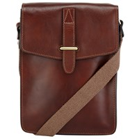John Lewis Made In Italy Leather Reporter Bag Brown