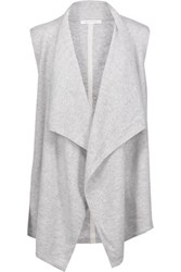 Duffy Draped Cashmere Vest Light Gray