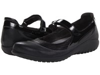 Naot Footwear Kirei Black Madras Leather Shiny Black Leather Black Patent Women's Maryjane Shoes