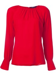 Derek Lam Long Sleeve Blouse Red