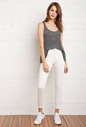 Forever 21 Classic High Waisted Skinny Jeans Cream