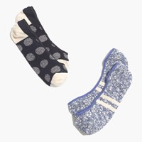 Madewell Two Pack Jacquard Dot Low Profile Socks Navy Cream Blue