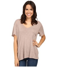 Project Social T Drewry Pocket Tee Sepia Women's Shirt Khaki