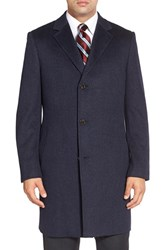 Men's Big And Tall John W. Nordstrom 'Clifton' Cashmere Twill Overcoat Navy