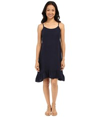 Allen Allen Linen Tank Dress Lapis Women's Dress Navy