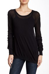 Inhabit Twisted Scoop Neck Tee Black