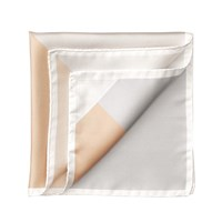 Aspinal Of London Block Colour Pocket Square Black And Ivory