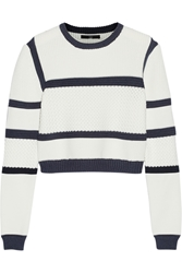 Tibi Sailor Cropped Knitted Sweater