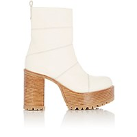 Marni Women's Paneled Leather Platform Ankle Boots White