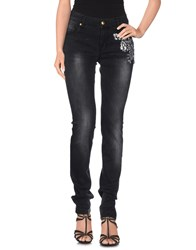 Love Moschino Denim Denim Trousers Women Black