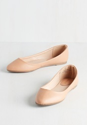 Pop Of Pep Flat In Tan Mod Retro Vintage Flats Modcloth.Com